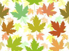 Stock Illustration of Maple leaf seamless tile