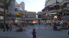 Hollywood and Highland Shopping Mall, Los Angeles, California Stock Footage
