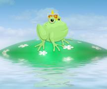 Frog prince Stock Illustration