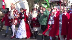 Mardi gras in Cologne, Germany  February 2015 - stock footage