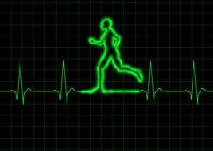 ECG Runner - stock illustration