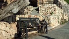 Spain Mallorca Island small town Porto Cristo 025 moving shadows of pedestrians Stock Footage