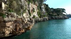 Spain Mallorca Island small town Porto Cristo 026 Majorcan steep coast Stock Footage