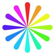 Color Fan Wheel - stock illustration