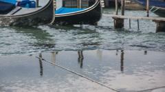 Sea splashing in to harbor Stock Footage