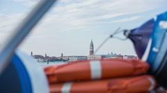 Tour around Venice with ship Stock Footage