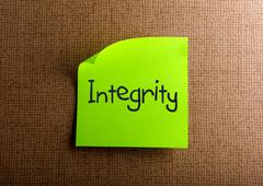 Stock Photo of Integrity
