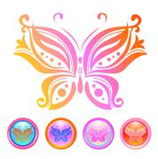Stock Illustration of Vector design of butterfly