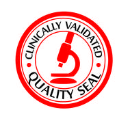 Clinically validated quality seal Stock Illustration