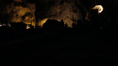 Carlsbad Caverns inside Big Room-36 - stock footage