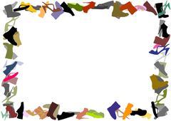 Footwear frame - stock illustration