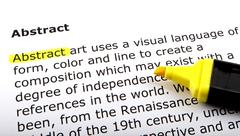 Stock Photo of Text highlighted with felt tip pen