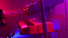 music bar - piano synthesizer - musical instruments in the background - stock footage