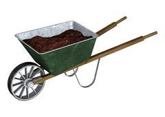 Wheelbarrow - stock illustration