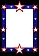 Star frame Stock Illustration
