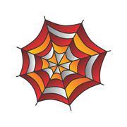 spider web art - stock illustration