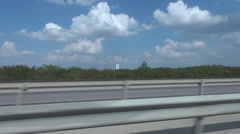 Speeding on highway, shooting from passenger seat, car drive extreme fast, speed Stock Footage