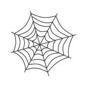 Spider web art Stock Illustration