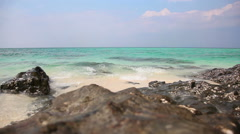 Seascape with turquoise water Stock Footage