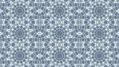 Ornate light blue kaleidoscopic pattern with three lines of fantasy rings. Stock Footage