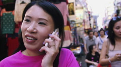 Woman talking on mobile phone Stock Footage