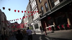 ChinaTown in Central London 7 Stock Footage