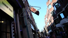 The famous Carnaby Street in London UK Stock Footage