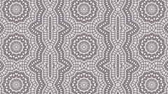 Ornamental luminous kaleidoscopic pattern with three lines of shining rings. Stock Footage