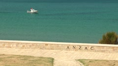 Anzac Cove Memorial in Canakkale Turkey Stock Footage