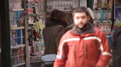 Newsstand Revenue Plunging Bucharest Romania Stock Footage