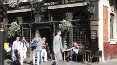 The Clarence Pub in Central London 1 - stock footage