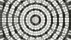 Black and white translucent circle kaleidoscopic background. Stock Footage