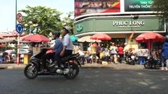 Street market Benh Tanh time lapse Stock Footage