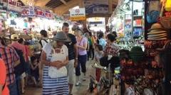 Market Ben Tanh inside time lapse Stock Footage
