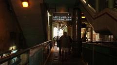 People walking through subway Stock Footage