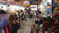 Ben Tanh market shopping Stock Footage