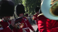 The Royal Guards Band, London UK Stock Footage
