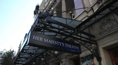 Her Majesty's Theatre in The West End in London Stock Footage