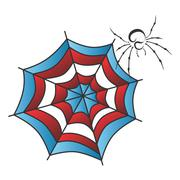 Color spiderweb art Stock Illustration