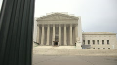 US Supreme Court in Washington DC - Dolly Shot Stock Footage
