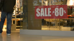 80 percent discount in store - stock footage