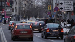 Despite Neighboring Ukraine Russia War Life Goes Normally Bucharest Romania Stock Footage
