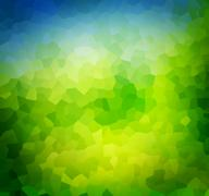 Low poly green nature background, theme. Subtle vignette Stock Illustration