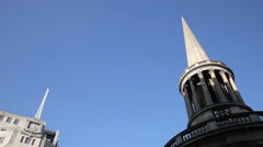The Spire of All Souls  Church, Portland Place, London UK Stock Footage