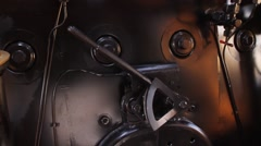 Furnace and manometers of old train - stock footage