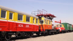 Old soviet train AS-1A Stock Footage