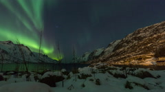Aurora Borealis (Northern Lights) timelapse Stock Footage