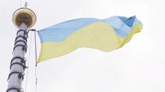 Flagstaff Ukrainian flag Stock Footage