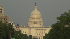 US Capitol Building, Washington, DC - Truck Drives By Stock Footage