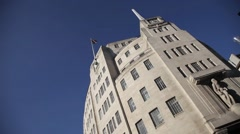 BBC Broadcasting House,  Langham Place, London UK Stock Footage